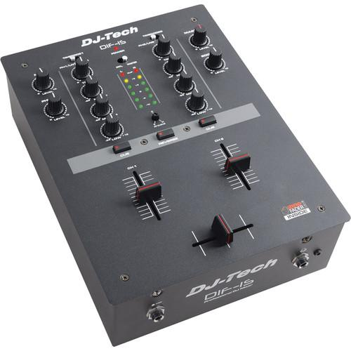 DJ-Tech DIF-1SV2 2-Channel DJ Mixer (Black) DIF1S-V2