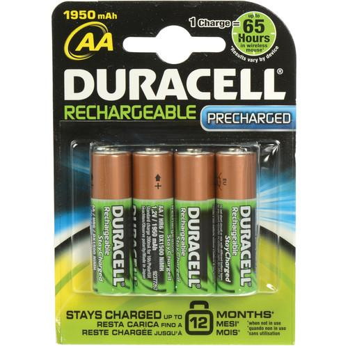 Duracell StayCharged AA NiMH Rechargeable Batteries DX15004