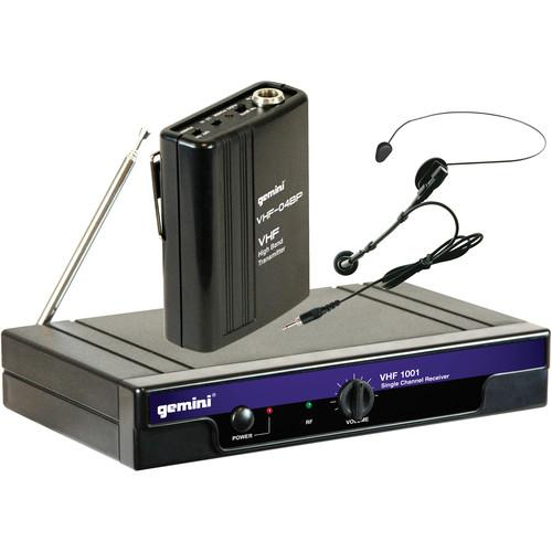 Gemini VHF-1001HL: Single-Channel Headset/Lavalier VHF1001HLC2