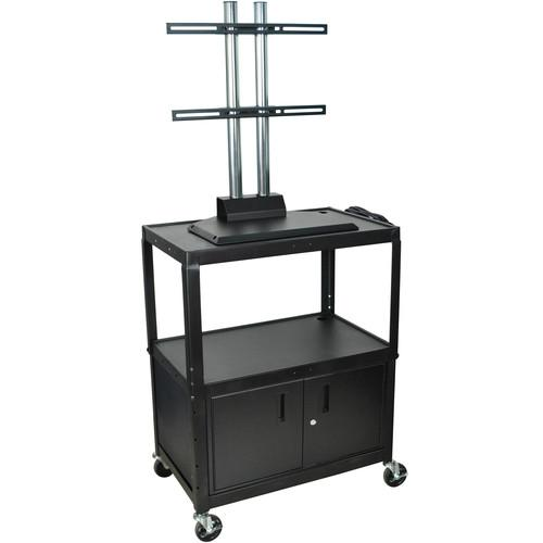 H. Wilson Adjustable Height Steel LCD Cart AVJ42XLC-LCD