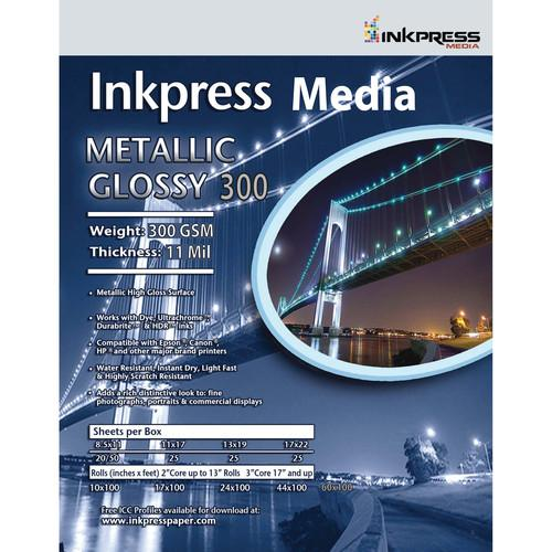 Inkpress Media  Metallic Gloss 300 Paper MPH24100
