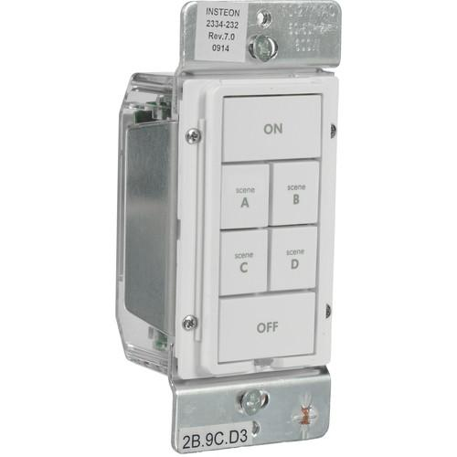 INSTEON  6-Button Keypad Dimmer (White) 2334-292