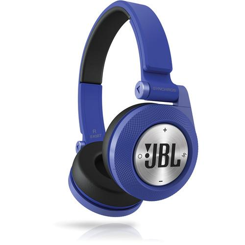 JBL Synchros E40BT Bluetooth On-Ear Headphones (Blue) E40BTBLU