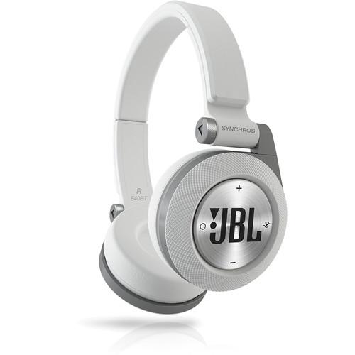 JBL Synchros E40BT Bluetooth On-Ear Headphones (White) E40BTWHT