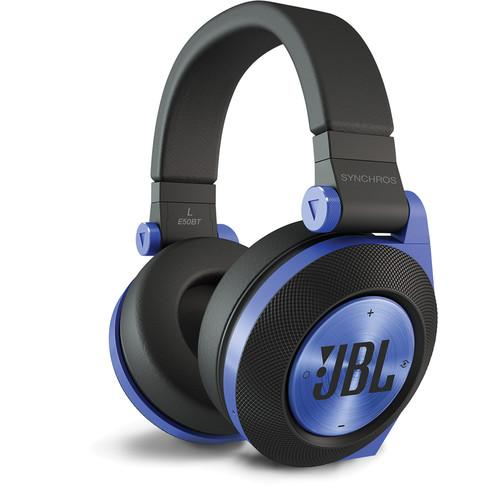 JBL Synchros E50BT Bluetooth On-Ear Headphones (Blue) E50BTBLU