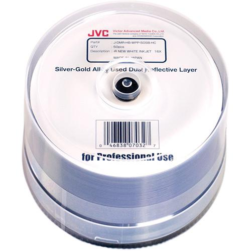 JVC Dual Reflective Layer Archival DVD-Rs JDMR-HB-WPP-50SB-HC