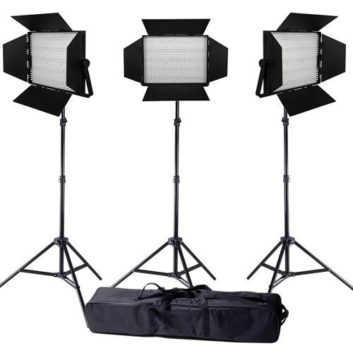 Ledgo Pro Series LED Bi-Color 1200 3-Light Kit LG1200CS3