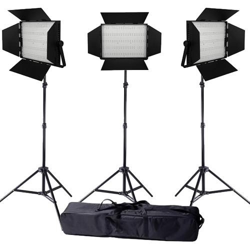 Ledgo Pro Series LED Daylight 1200 3-Light Kit LG1200S3