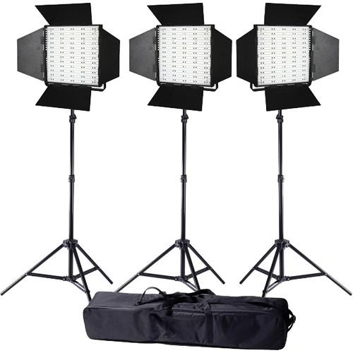 Ledgo Pro Series LED Daylight Panel 600 3-Light Kit LG600S3