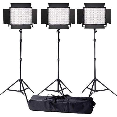 Ledgo Value Series LED Bi-Color 900 3-Light Kit LG900CSC3