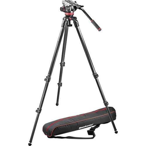 Manfrotto MVH502A Fluid Head and 535 CF Tripod System MVK502C-1