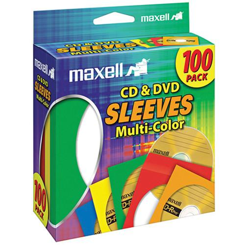 Maxell Multi-Color CD & DVD Sleeves (100-Pack) 190132