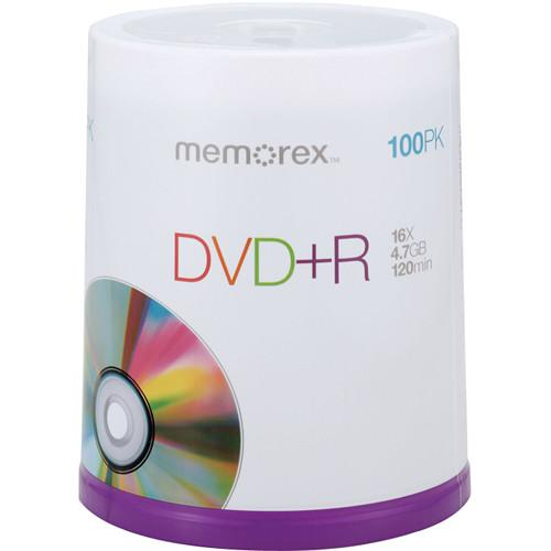 Memorex DVD R 4.7GB 16x Single Sided Recordable Discs 05621