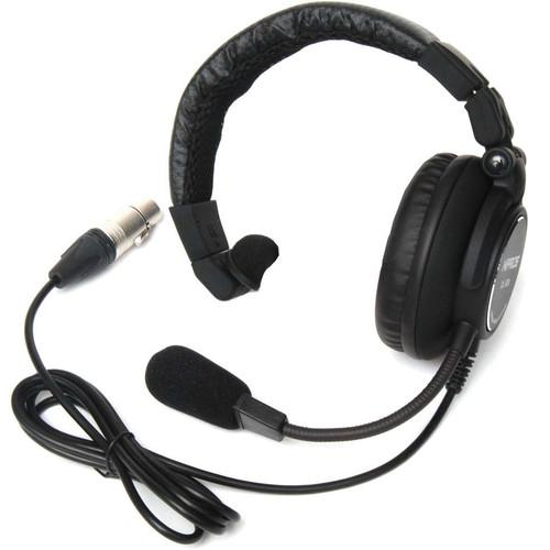 Nipros Single-Ear Closed-Back Intercom Headset with 4-Pin DL-500