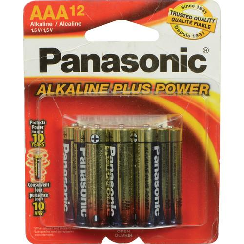 Panasonic AAA 1.5V Alkaline Batteries (12-Pack) PAN12AAA