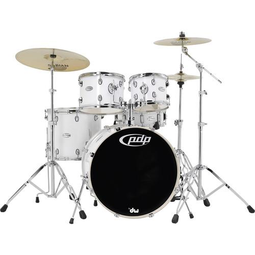 PDP Mainstage 5-Piece Drum Kit w/800 Hardware and PDMA22K8WH