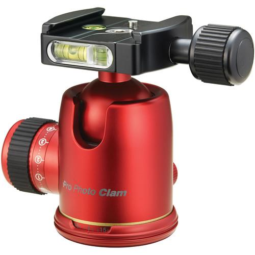 Photo Clam PRO 34NS Ball Head (Red) PCBH-PRO34NSR