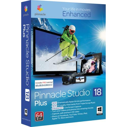 Pinnacle Studio 18 Plus Video Editing Software PNST18PLENAM