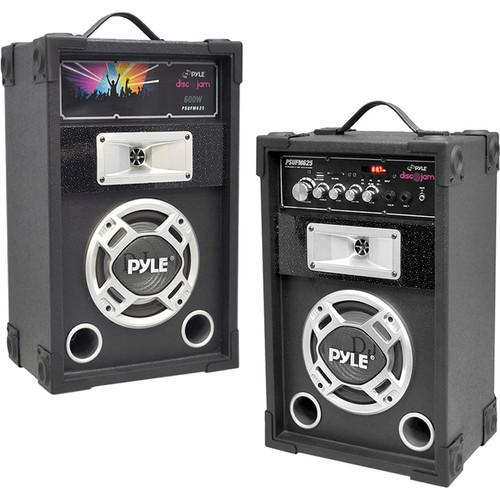 Pyle Pro PYPSUFM625 Disco Jam Dual 600W 2-Way Speaker PSUFM625