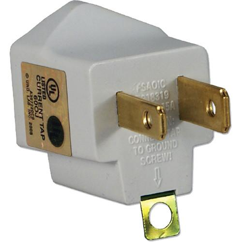 QVS 3-Prong to 2-Prong Power Adapter (White / Pack of 2) PA-2PK