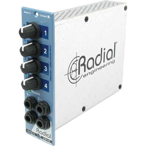 Radial Engineering 500 Series ChainDrive 1 x 4 Audio R700 0172