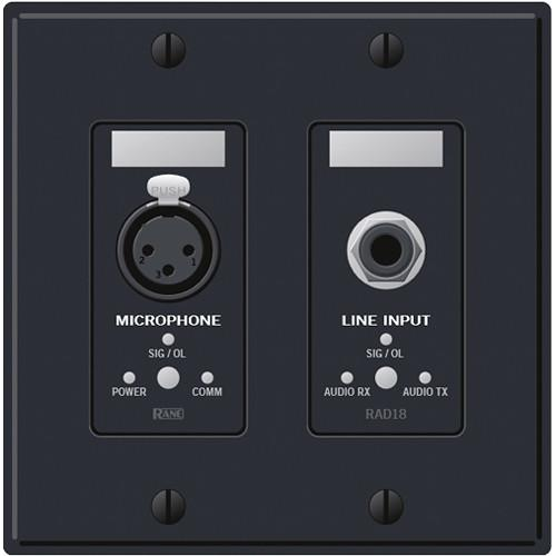 Rane  RAD18B Remote Audio Device (Black) RAD18B