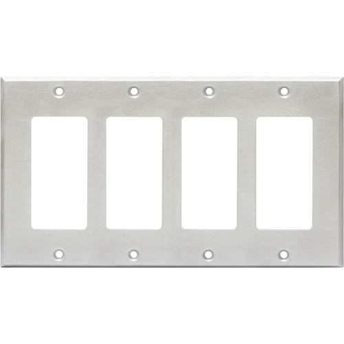 RDL CP-4S Quadruple Cover Plate (Stainless Steel) CP-4S