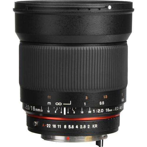 Samyang 16mm f/2.0 ED AS UMC CS Lens for Pentax SY16M-P