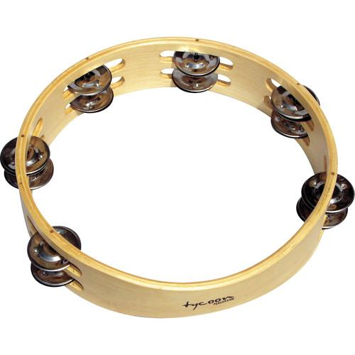 Tycoon Percussion Double Row Wooden Tambourine TBW