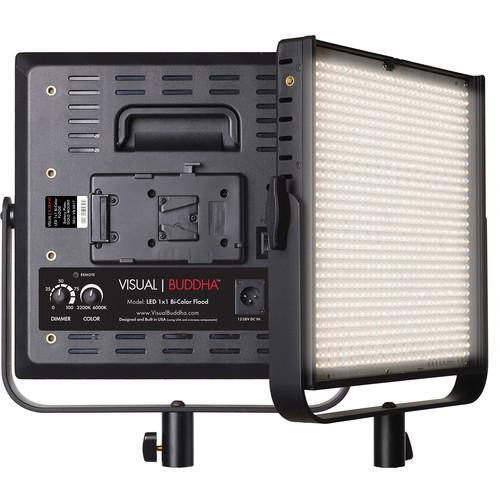 Visual Buddha 1x1 Bi-Color LED Flood Panel with V-Mount VB-5015