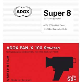 Adox Pan-X Reversal Super 8 Black and White Film (49.2') 422150