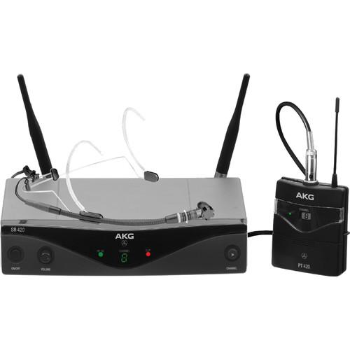 AKG WMS420 UHF Wireless Headworn Microphone System 3413H00090
