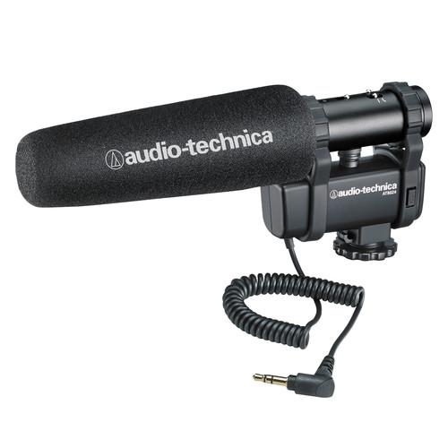 Audio-Technica AT8024 Stereo/Mono Camera-Mount Microphone AT8024