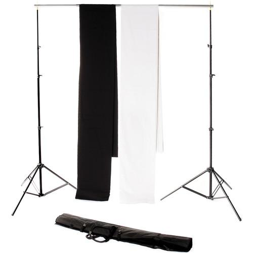 Backdrop Alley Studio Kit with Stand and Two 10 x 24' STDKT-24BW