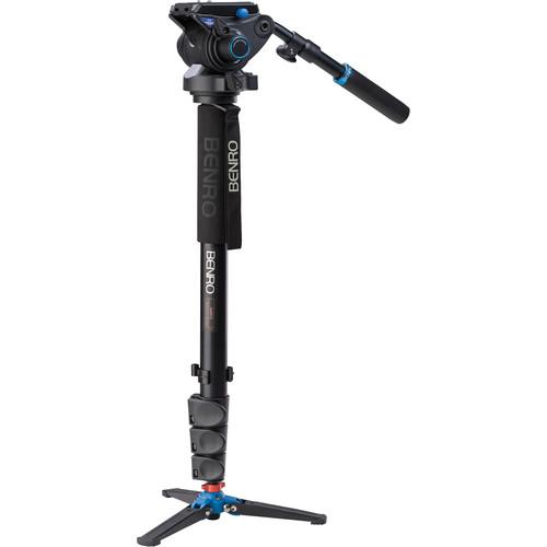 Benro A48FDS6 Series 4 Aluminum Monopod with 3-Leg A48FDS6