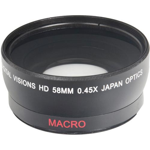 Bower Pro HD 0.45x Wide-Angle Conversion Lens for 58mm VLC4558B