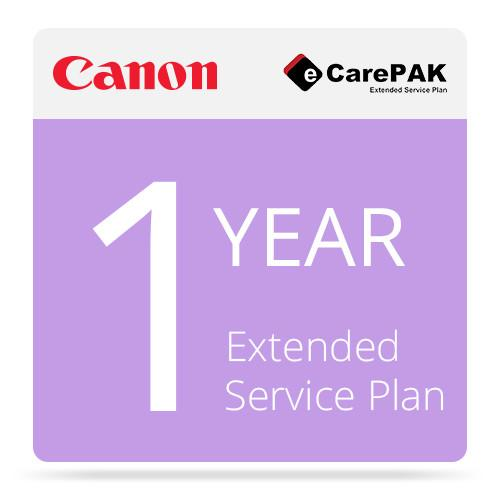 Canon 1-Year eCarePAK Extended Service Plan For Canon 1708B313AA