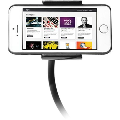 CTA Digital Adjustable Clip-On Stand for Smartphones and PAD-COS