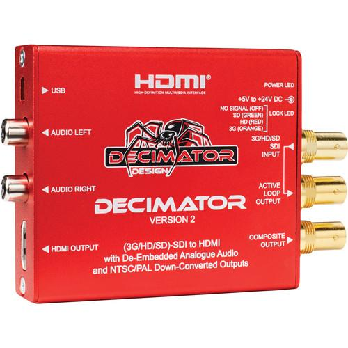 DECIMATOR DECIMATOR 2 3G/HD/SD-SDI to HDMI Converter DD-DEC-2