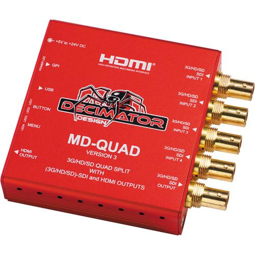 DECIMATOR MD-QUAD 3G/HD/SD-SDI Quad Split DD-MD-QUAD