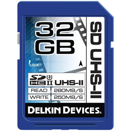 Delkin Devices 32GB UHS-II SDHC Memory Card (U3) DDSDUHS232GB