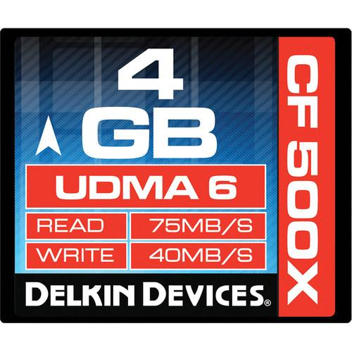 Delkin Devices 4GB CompactFlash Memory Card 500x UDMA
