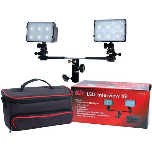 Dot Line LED 2-Light Interview Kit with Case DL-DV2600