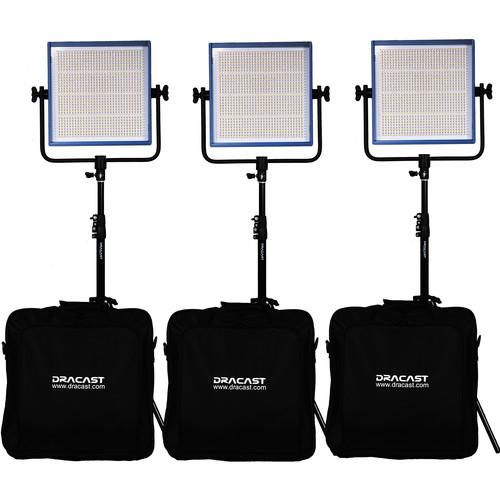 Dracast Dracast LED1000 Pro Daylight 3-Light Kit DR-LK-3X1000-DG