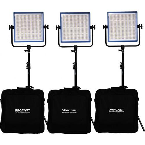Dracast Dracast LED1000 Pro Daylight 3-Light Kit DR-LK-3X1000-DV