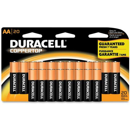 Duracell 1.5V AA Coppertop Alkaline Batteries (20-Pack)