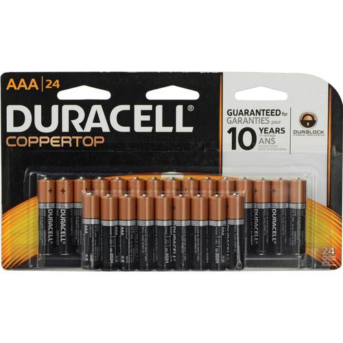Duracell AAA 1.5V Alkaline Coppertop Battery (24-Pack) MN2400B24