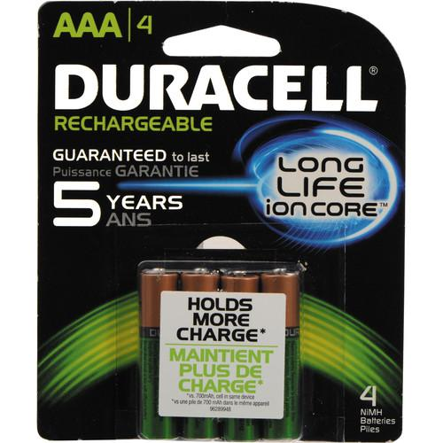 Duracell Rechargeable Long Life ion Core AAA NiMH DX2400B4N