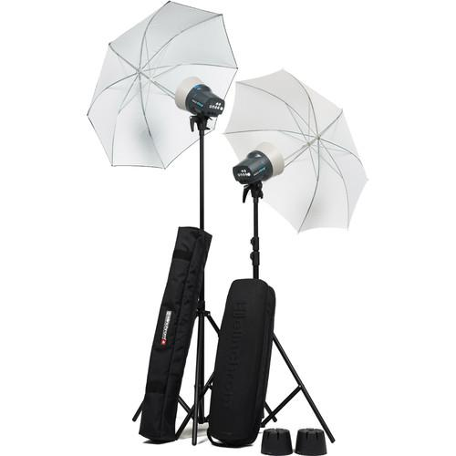 Elinchrom D-Lite RX One Flash Head Kit with Umbrellas EL20844.2