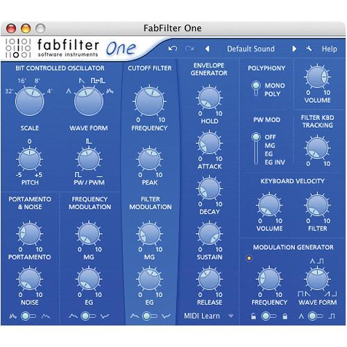 FabFilter  One Software Synth Plug-In 11-30180